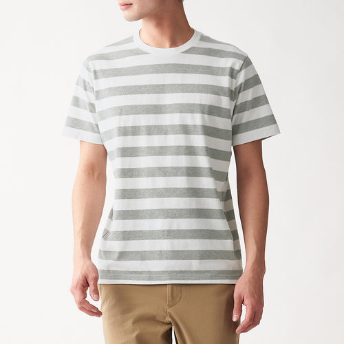 Indian Cotton Jersey Stitch Thick Border S/S T-Shirt