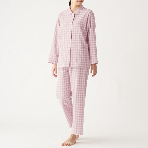 Women'S Side Seamless Double Gauze Pajamas