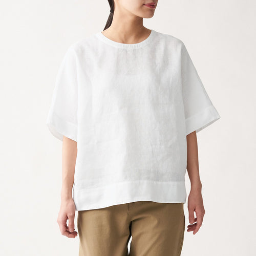 Organic Linen Washed S/S Blouse