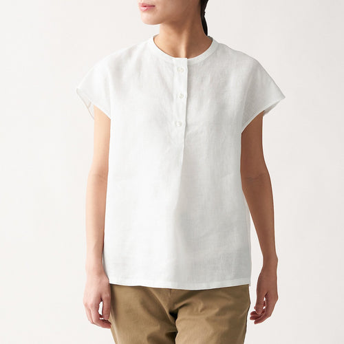 Organic Linen Washed French Sleeve Blouse