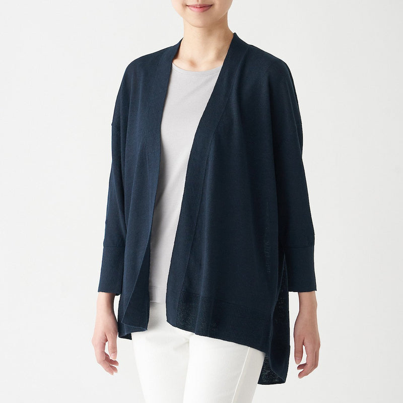 Uv Protection French Linen Wide Cardigan