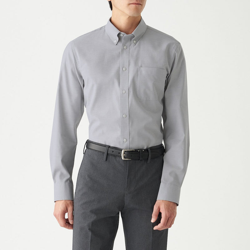 Xinjiang Cotton Stretch Permanent Press Button Down Shirt