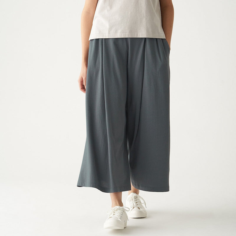Cotton Rayon Wide Pants