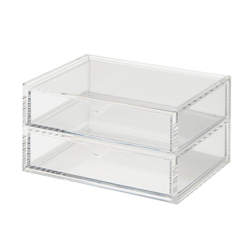Acrylic Case W/Drawer 2Rows / About 17.5Cm Wide