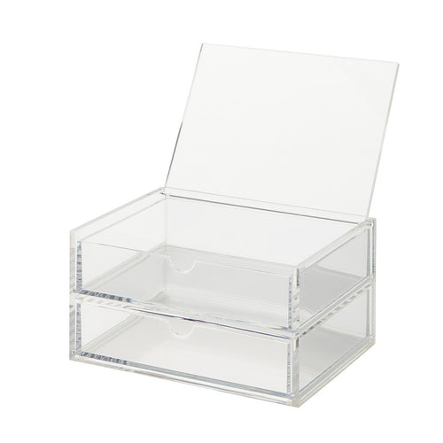 Acrylic Case W/Lid 2Rows Clear