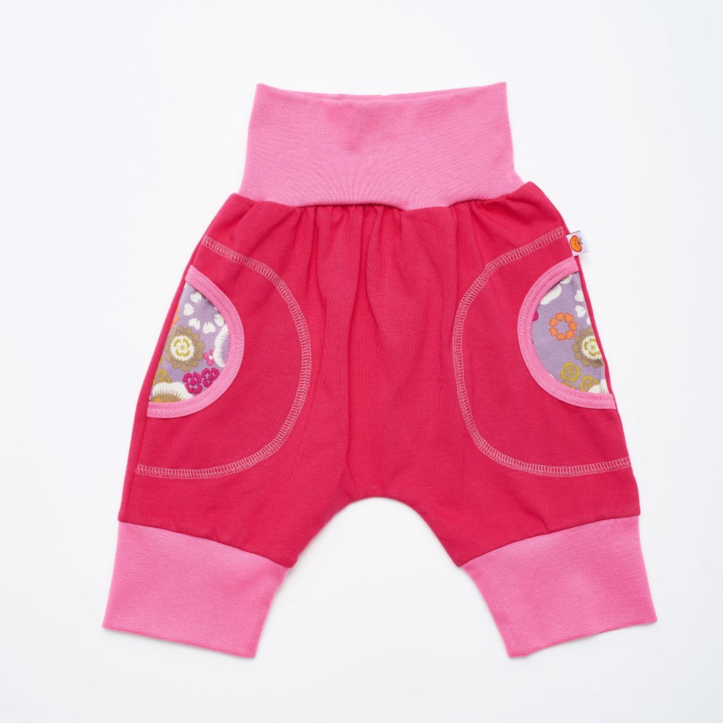"3/4 pants ""Raspberry/Blomalve"" - Cheeky Apple"