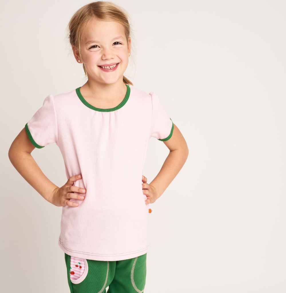 "Top ""Baby pink/Green"""