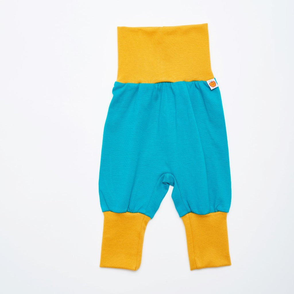 "Baby jersey pants ""Caribbean/Mustard"" - Cheeky Apple"
