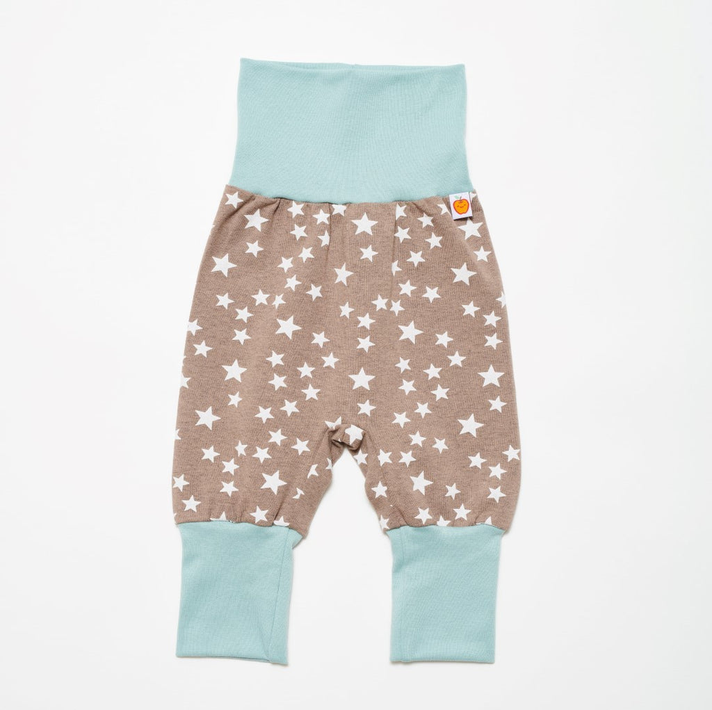 "Baby jersey pants ""Stars taupe"""