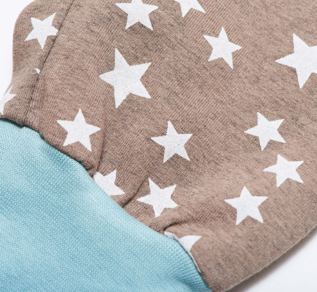 "Baby jersey pants ""Stars taupe"" - Cheeky Apple"