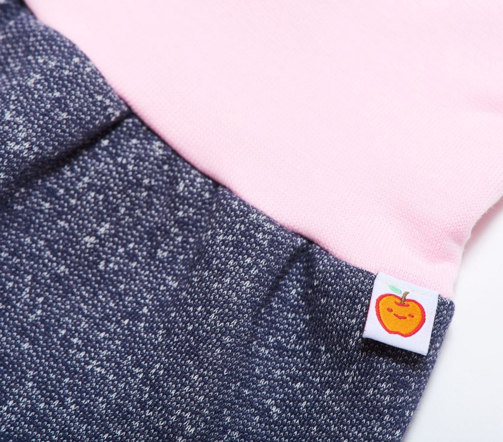 "Baby sweat pants ""Sweat India Ink/Baby pink"""
