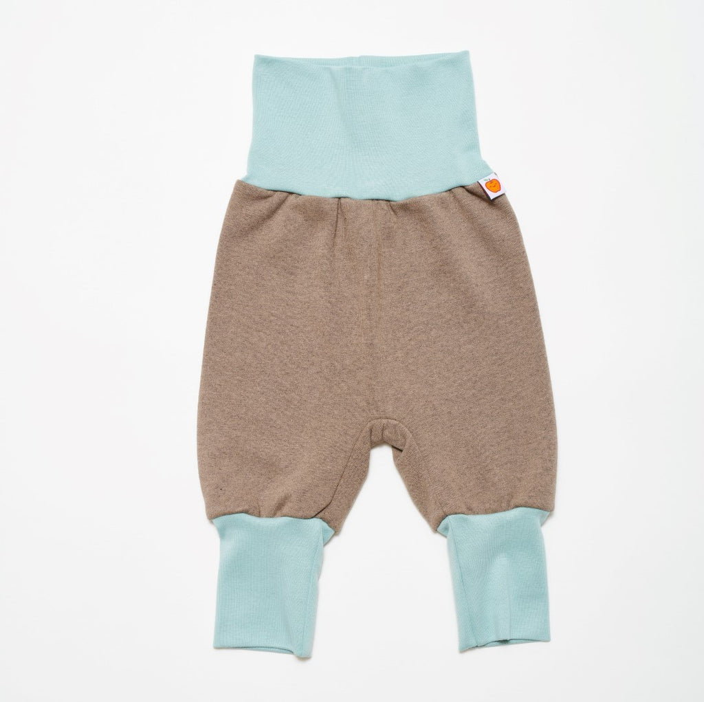 "Baby sweat pants ""Sweat taupe/Stone blue"" - Cheeky Apple"