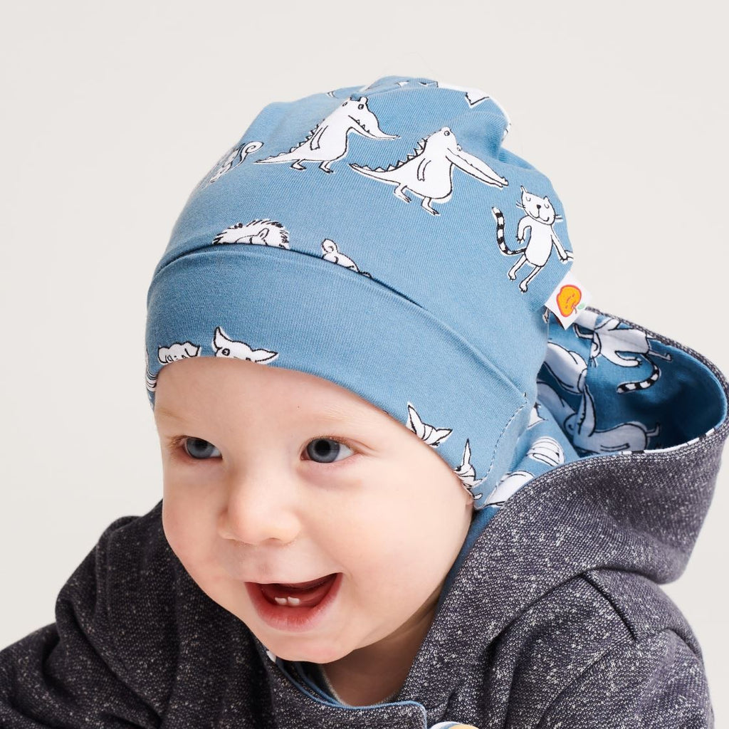 "Lined baby hat ""Two&two/Grey"""