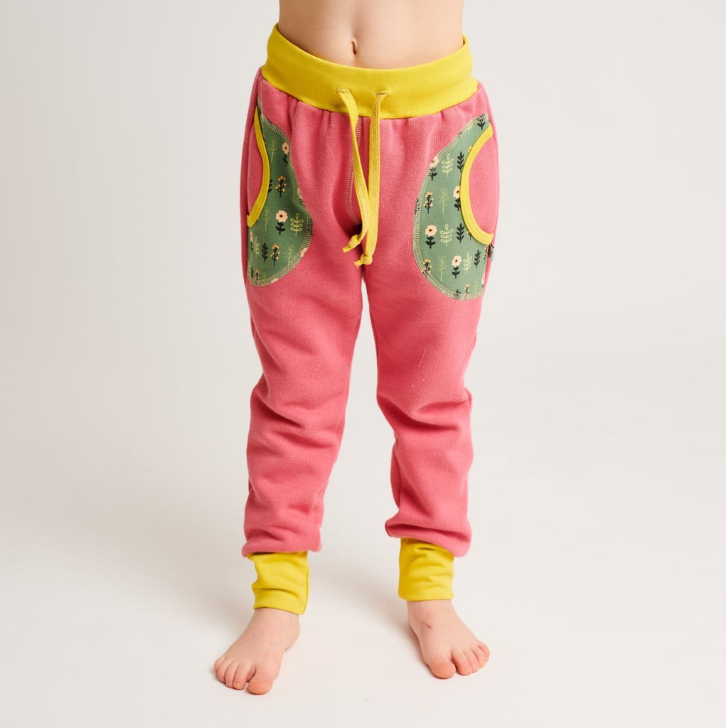 "Sweatpants ""Sweat Rapture Rose/Apricot Flowers"""