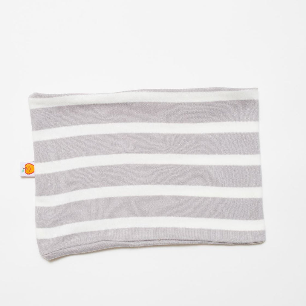 "Neck warmer ""Grey-white stripes"""
