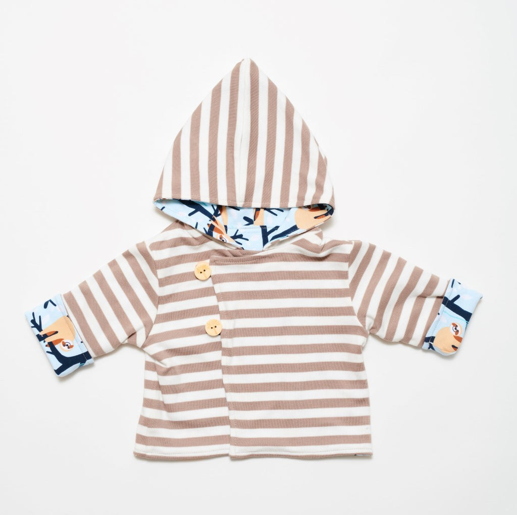 "Reversible baby jacket ""Bernd the sloth"""