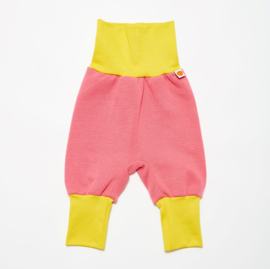 "Baby sweat pants ""Sweat rapture rose/Warm olive"" - Cheeky Apple"