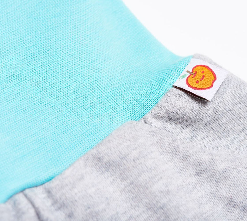 "Baby pants ""Grey/Mint"""