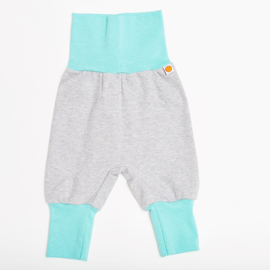 "Baby pants ""Grey/Mint"" - Cheeky Apple"