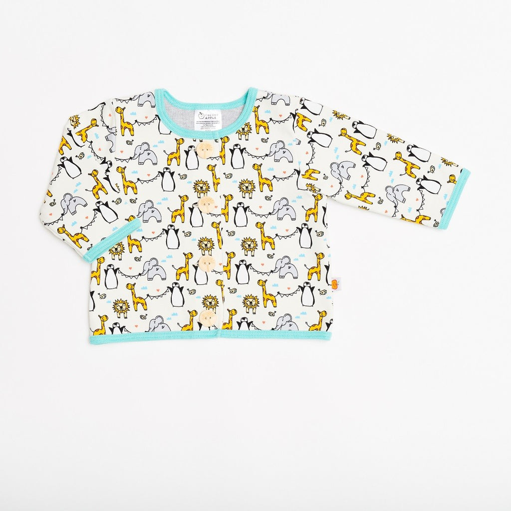 "Lined baby jacket ""Lovely Zoo/Grey"""