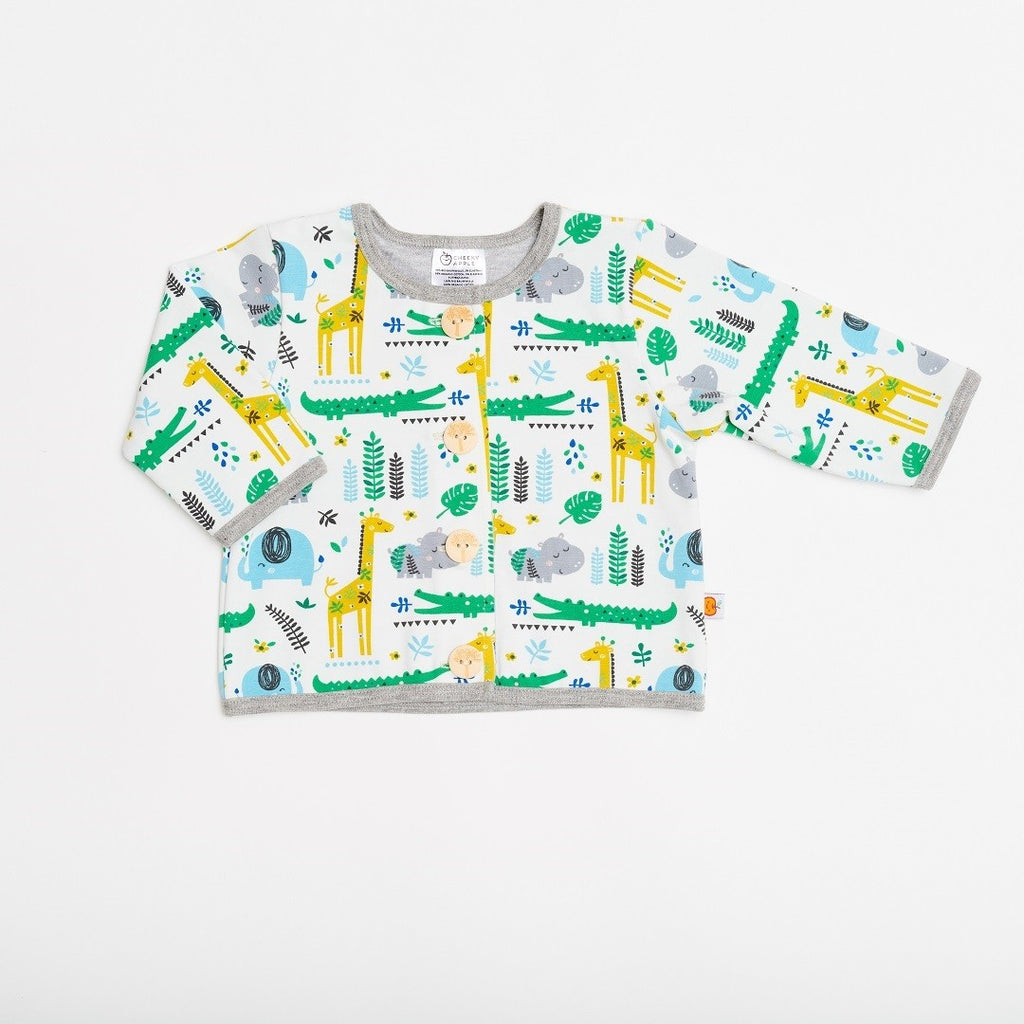 "Lined baby jacket ""Cool Jungle/Grey"""