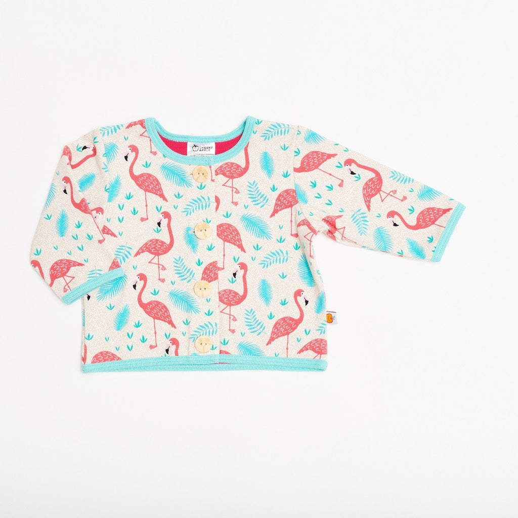 "Lined baby jacket ""Flamingo/Raspberry/Mint"""