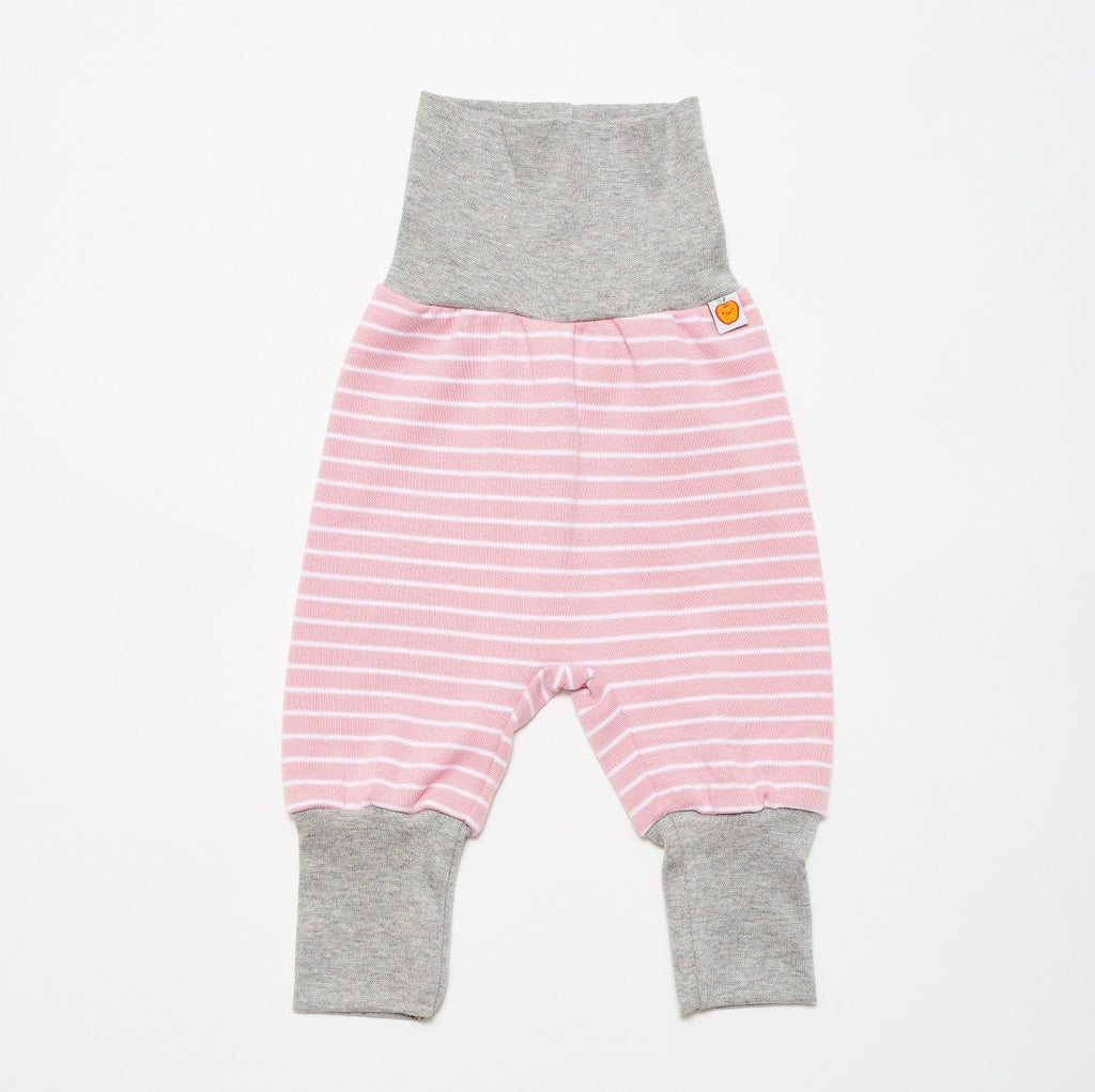 "Baby pants ""Zephyr-white-stripes/Grey"" - Cheeky Apple"