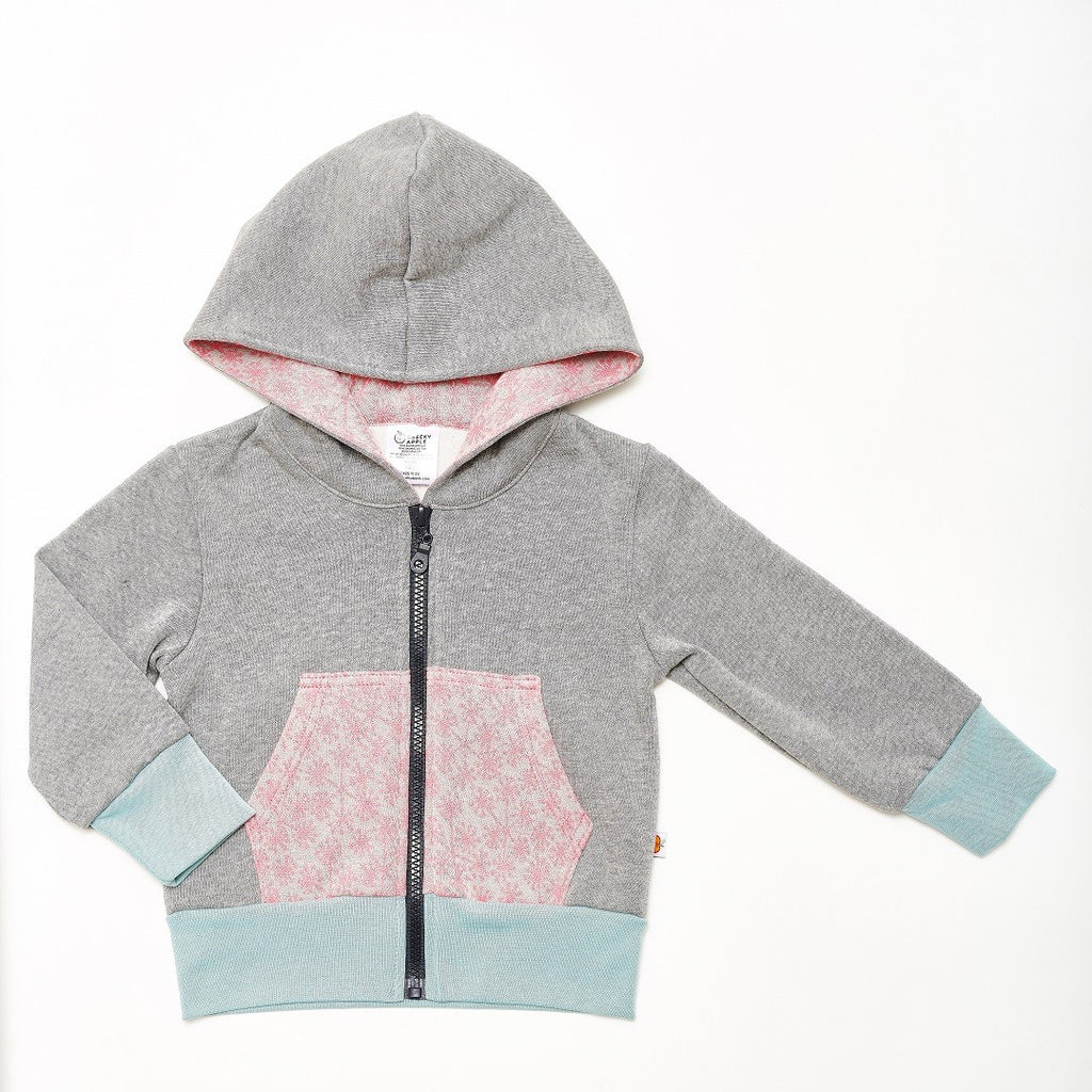"Sweat hoodie ""Sweat Grey/Dandelion Pink"""
