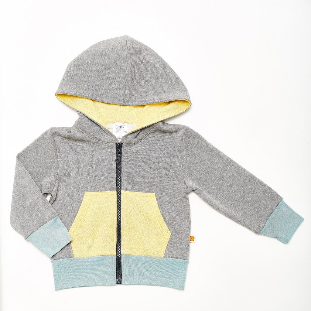 "Sweat-Kapuzenjacke ""Sweat Grau/Dotties Bamboo"""