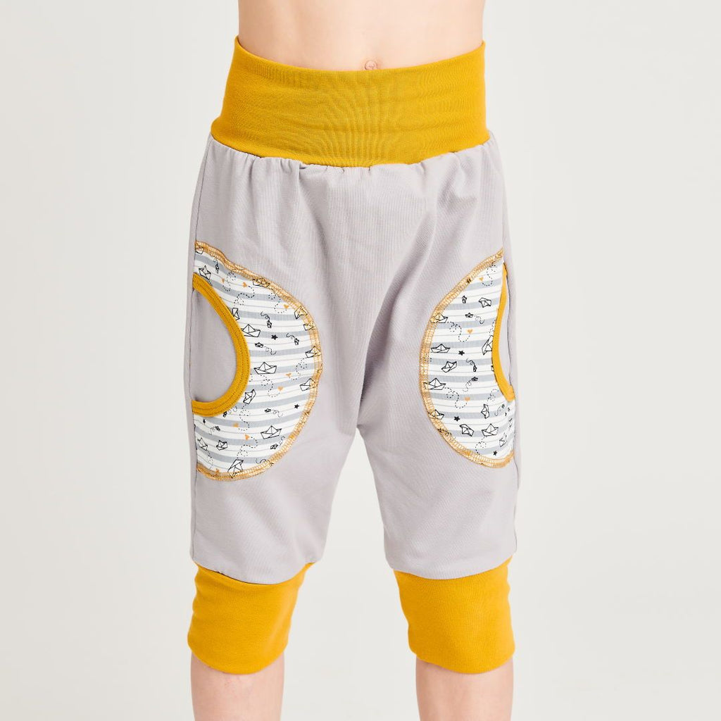 "Organic kids harem pants ""Jersey Grey 