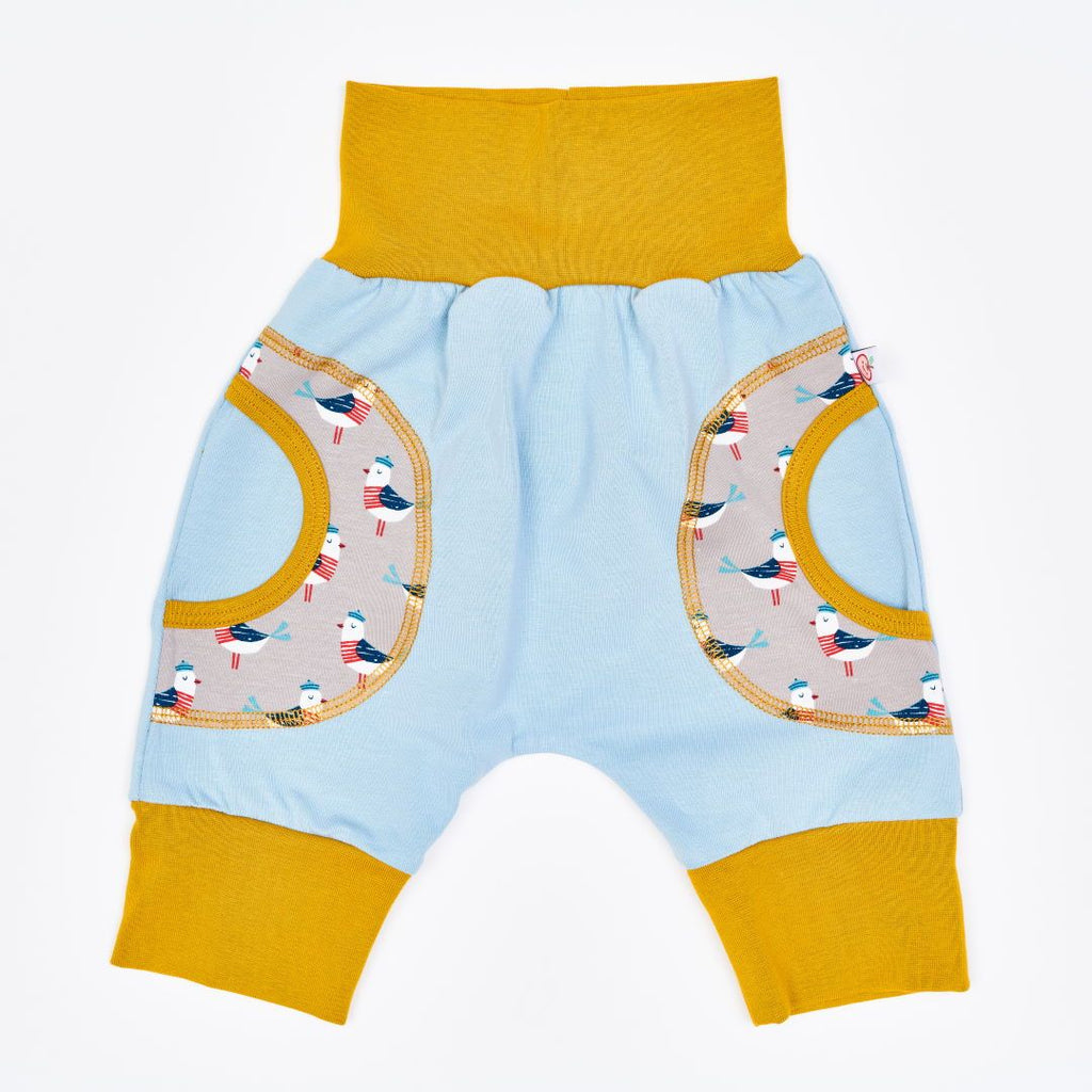 "Organic kids harem pants ""Jersey Frost 