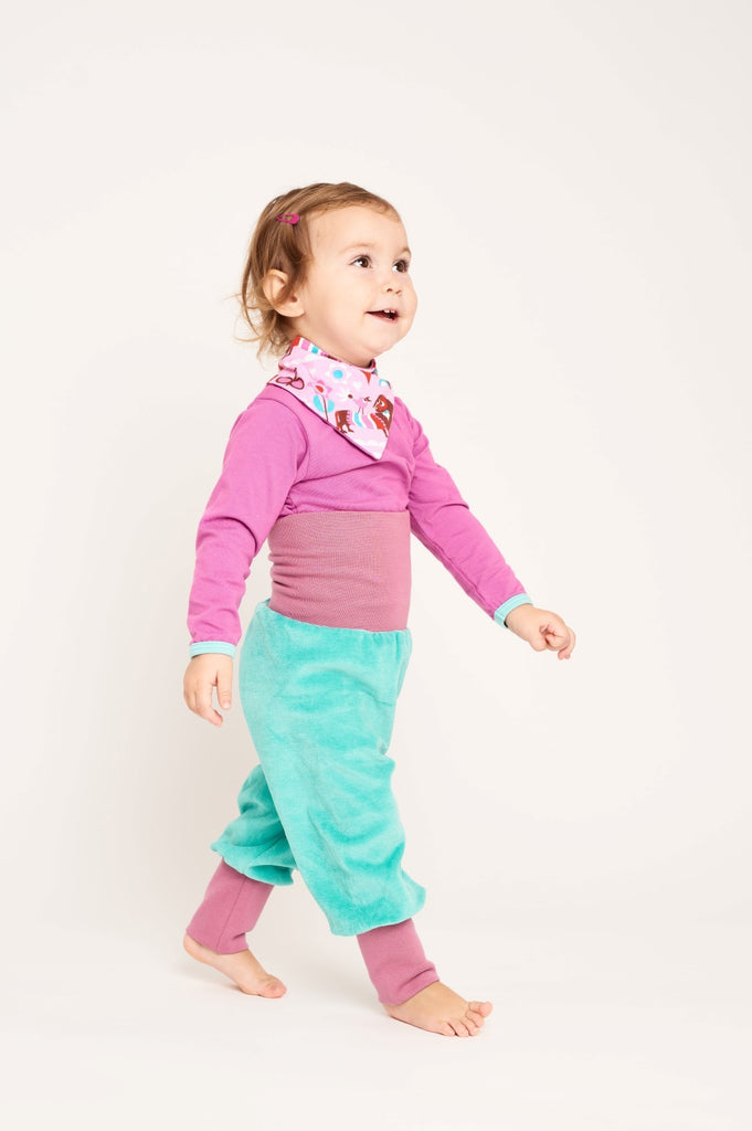 "Baby pants ""Nicki Mint/Purple"""