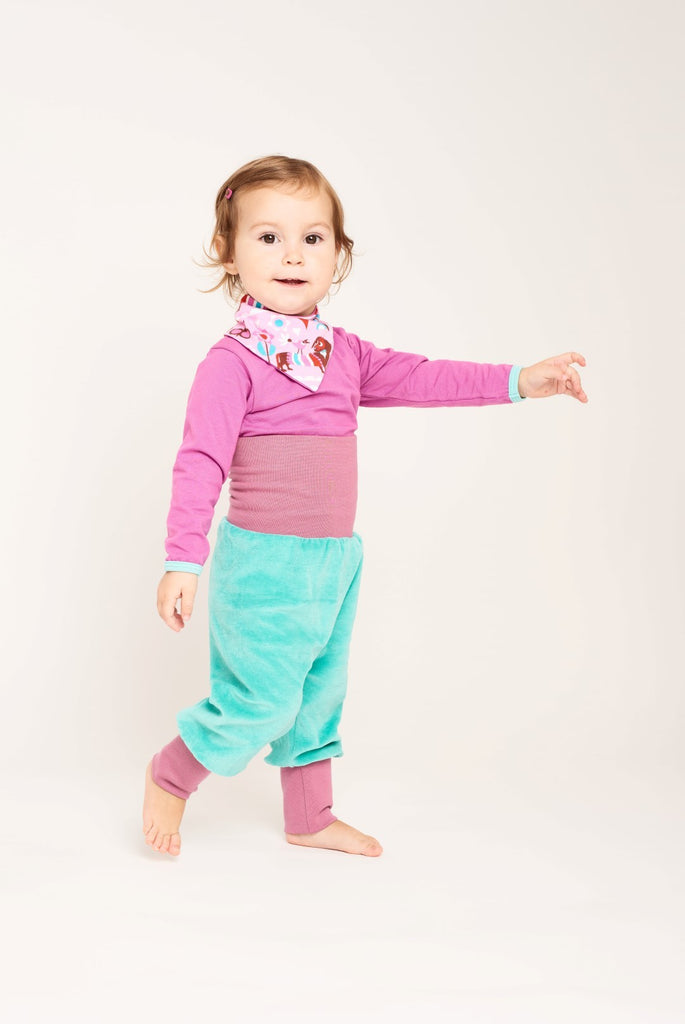 "Baby pants ""Nicki Mint/Purple"" - Cheeky Apple"