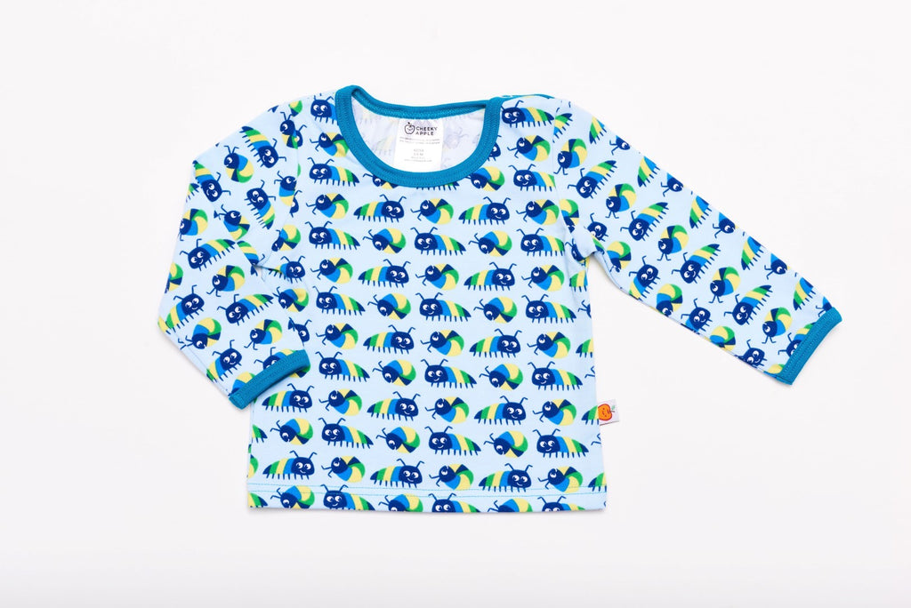 "Long sleeve baby top ""Little Munkelus"""