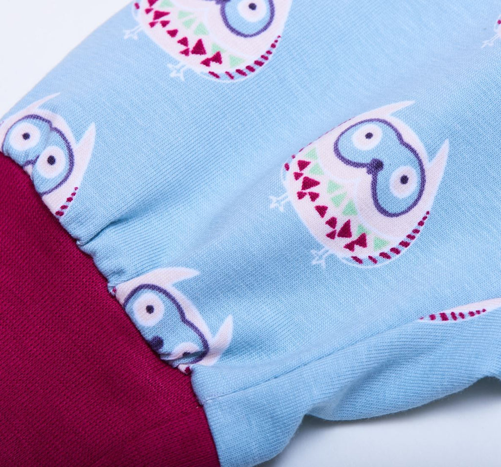 "Baby jersey pants ""Owls nest"" - Cheeky Apple"