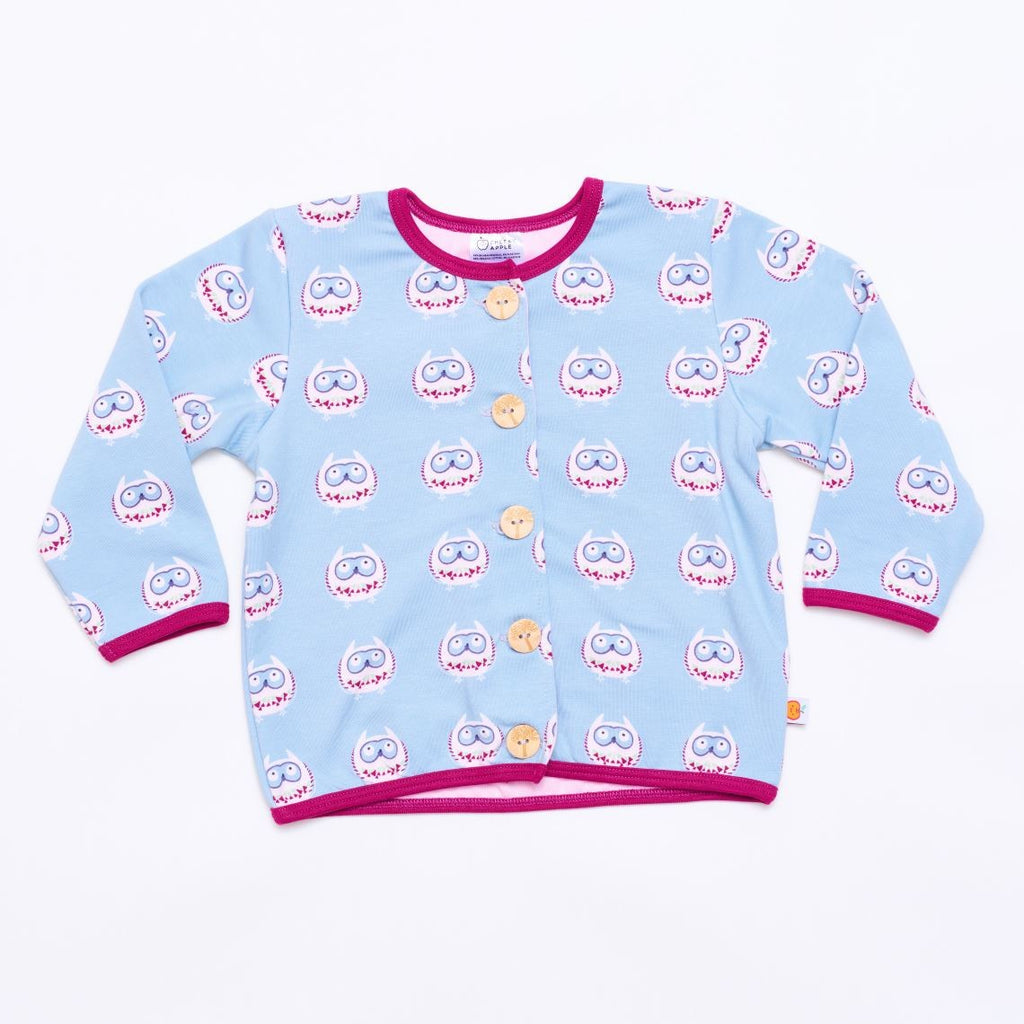 "Lined baby jacket ""Owls nest"""