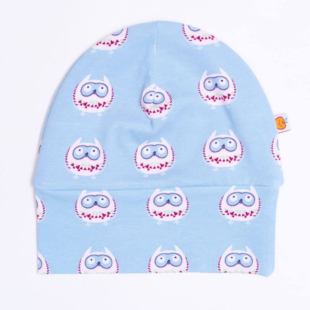 "Lined baby hat ""Owls nest"" - Cheeky Apple"