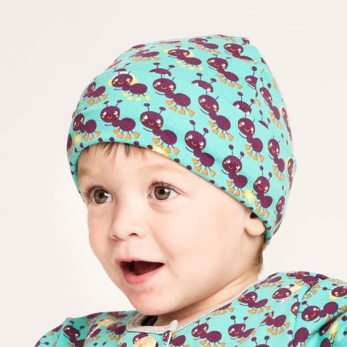 "Lined baby hat ""Ants"" - Cheeky Apple"