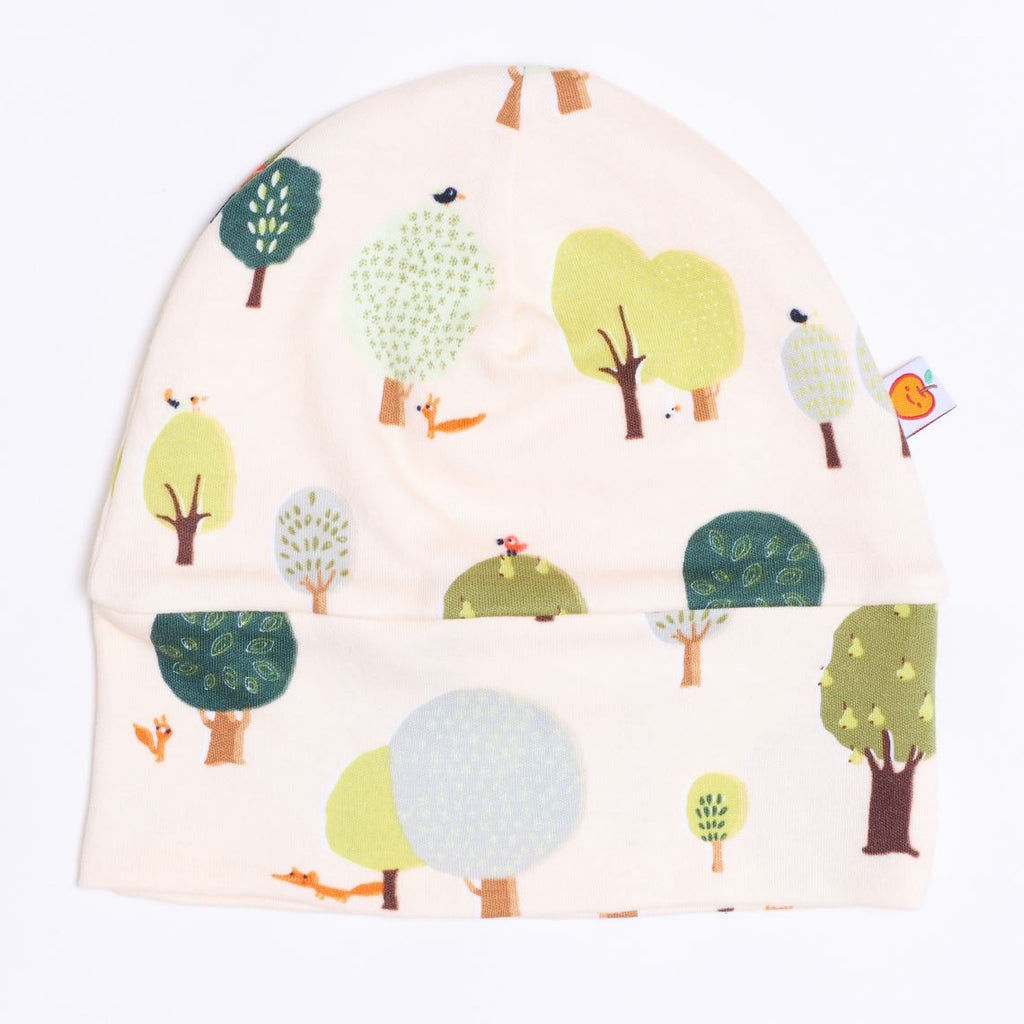 "Lined baby hat ""Fox in the forest"" - Cheeky Apple"