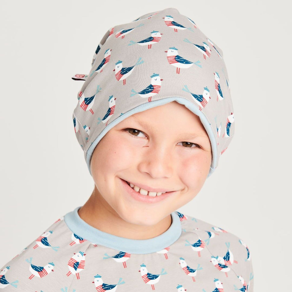 "Beanie ""Seagull Fiete"" made from 96% organic cotton and 4% elastane"