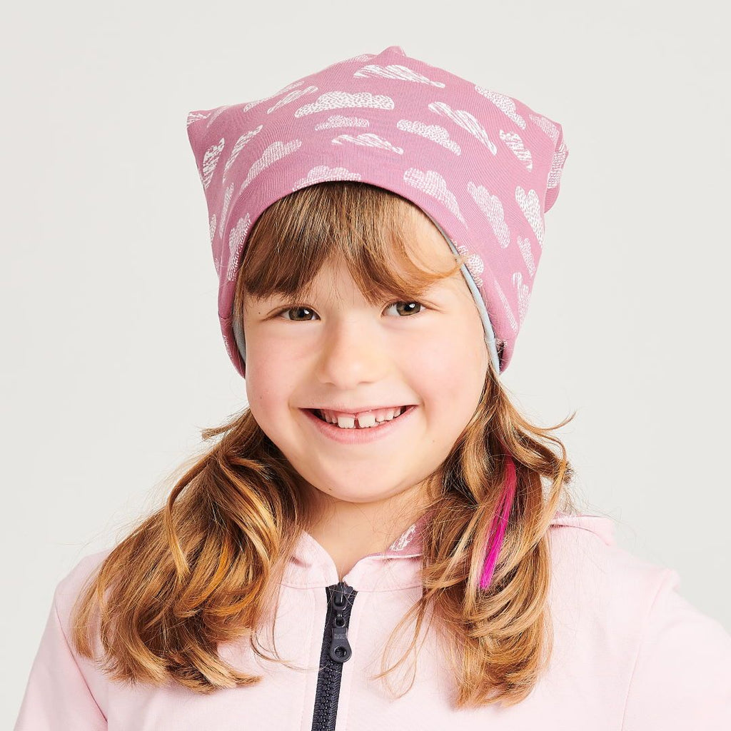 "Beanie ""Clouds Vintage Rose"" made from 96% organic cotton and 4% elastane"