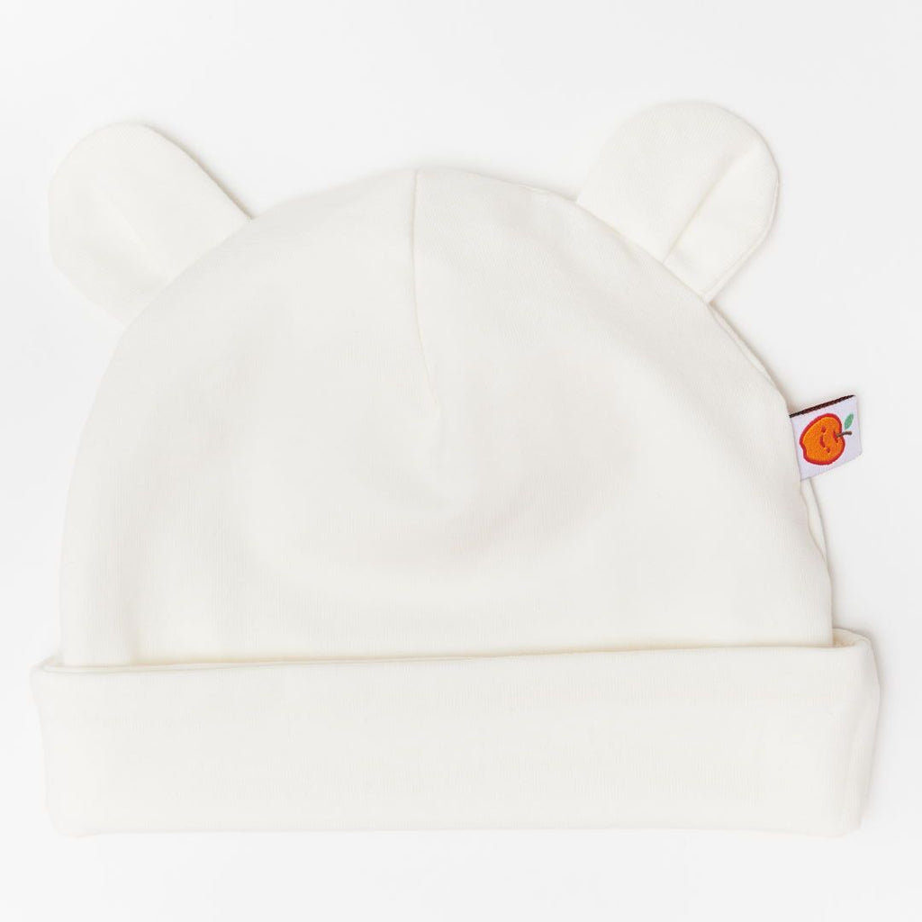 "Baby hat with ears ""Ecru"""