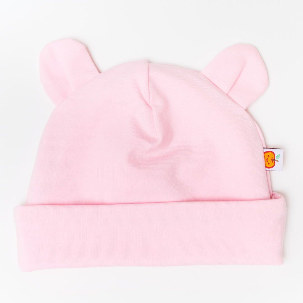 "Baby hat with ears ""Light Pink"""