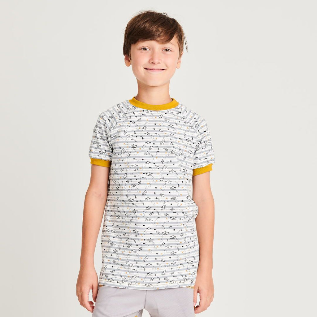 "Boys t-shirt ""My little golden Ship"" made from 95% organic cotton and 5% elasthane"