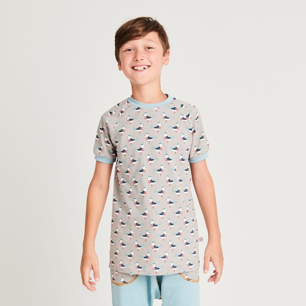 "Boys t-shirt ""Seagull Fiete"" made from 95% organic cotton and 5% elasthane"