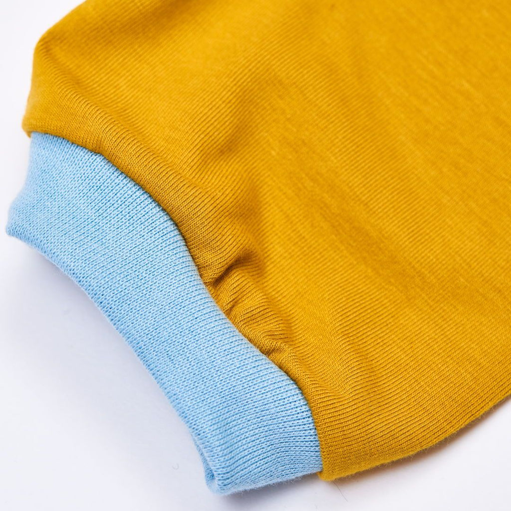 "Boys t-shirt ""Jersey Ochre"" made from 97% organic cotton and 3% elasthane"