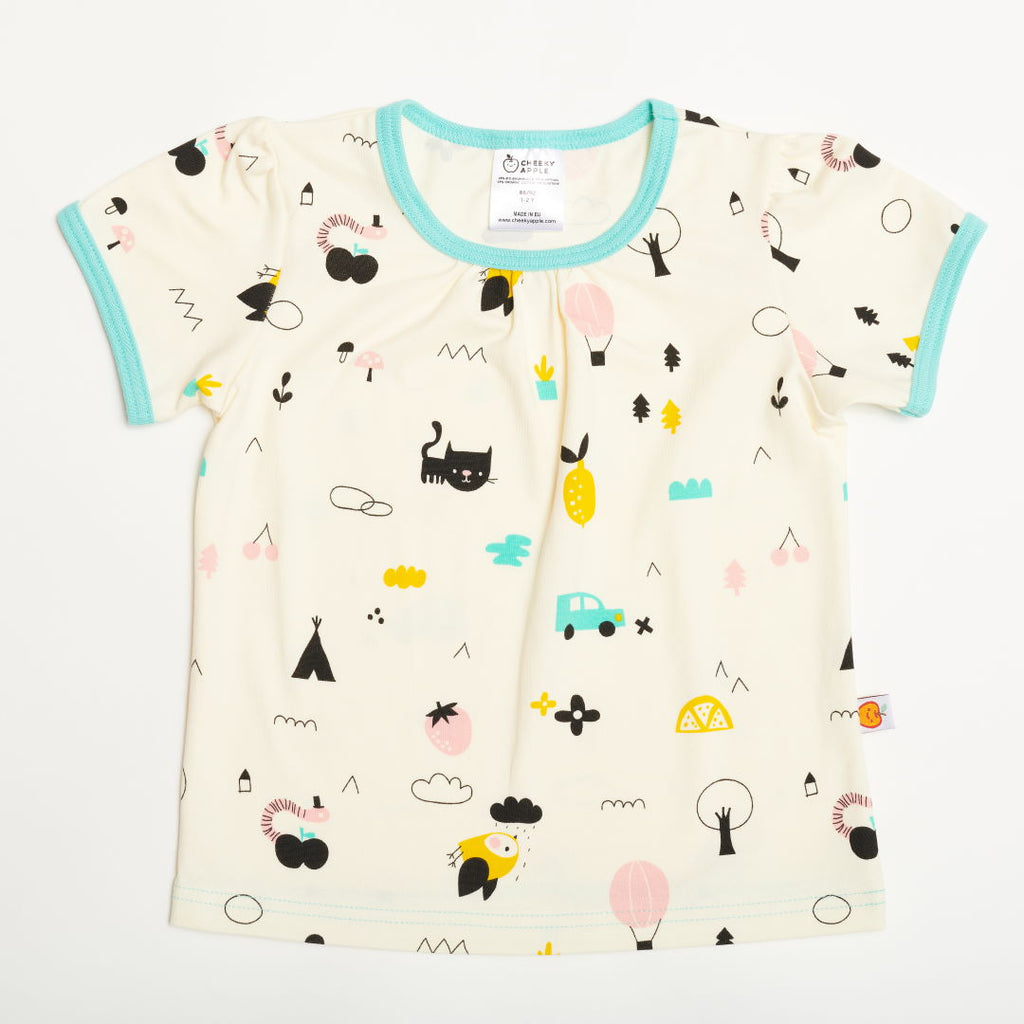 "Girls' Short-sleeve Top ""Lief Leven/Mint"""