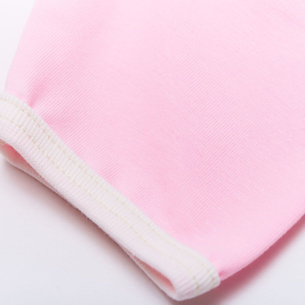 "Short-sleeve baby body ""Light Pink/Ecru"""