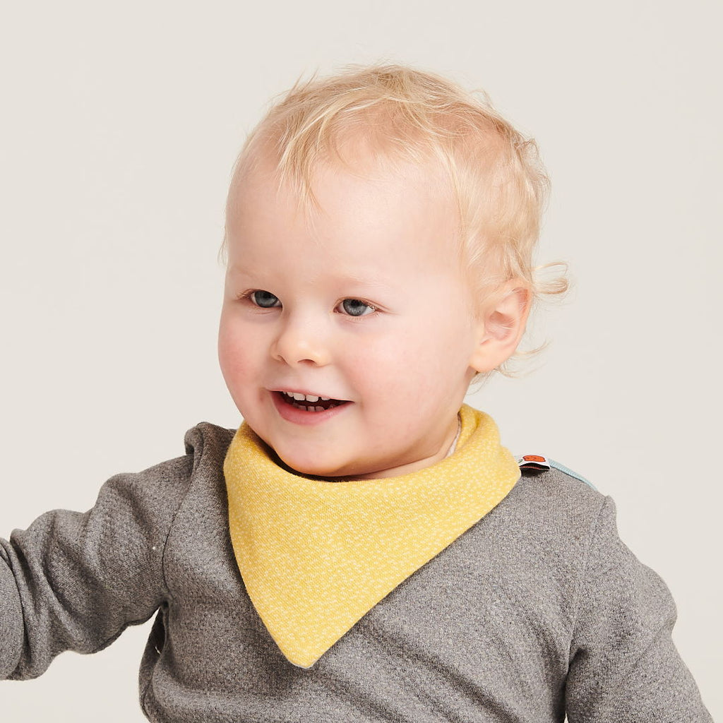 "Dribble bib ""Dotties Bamboo/Rib Glacier"" - Cheeky Apple"