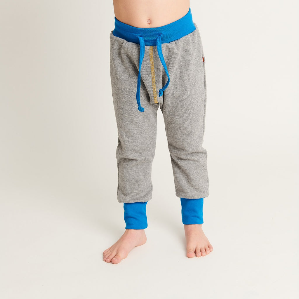 "Boy`s Sweatpants ""Sweat Grey/Dotties Bamboo"" - Cheeky Apple"